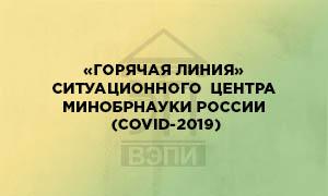 «Горячая линия» Ситуационного Центра Минобрнауки России (COVID-2019)